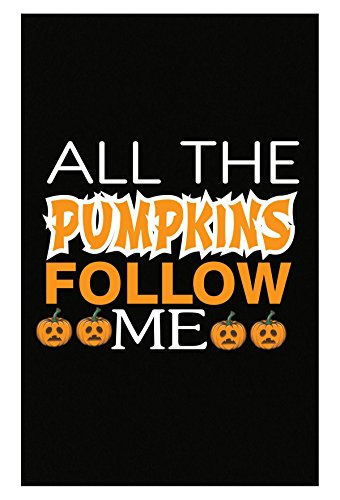 All The Pumpkins Follow Me Pumpkin Faces Bright Colors - Poster