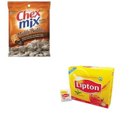 kitavtsn37301lip291-value-kit-general-mills-chex-mix-muddy-buddies-avtsn37301-and-lipton-tea-bags-li