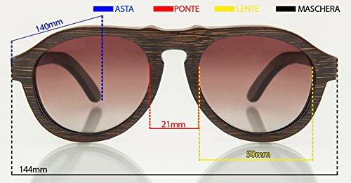 A Lentes Mano De Gafas Alta Calidad 100 Hecho Barkey Polarizadas Marrones Madera De Lentes Panama qw74SP