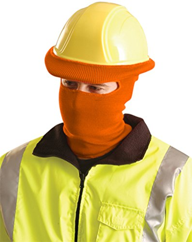 Stay Warm - Classic FULL FACE Hard Hat Tube Liner - Hi-Viz Orange-24-PACK by Haynesville