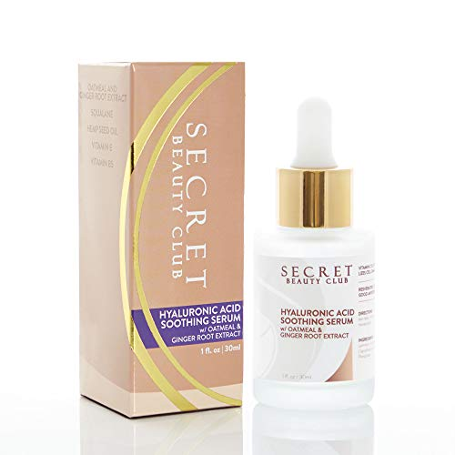 Hyaluronic Acid Soothing Serum for Face w/Ginger Root Extract, Anti Aging Anti Wrinkle
