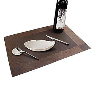 Table mats set of 6 soriace place mats sets table place - Set de table pvc ...