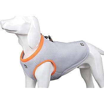 SGODA Dog Cooling Vest Harness Cooler Jacket Grey Orange X-Large