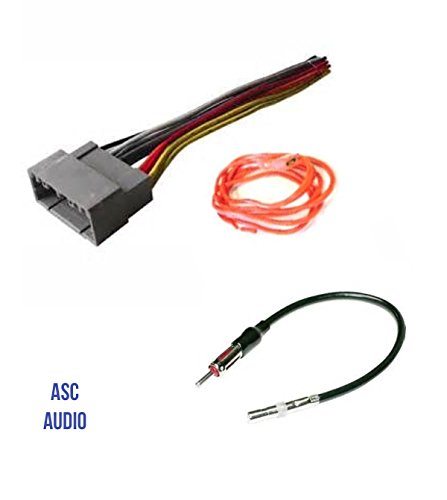 ASC Audio Car Stereo Wire Harness and Antenna Adapter to install an Aftermarket Radio for select Dodge Chrysler Jeep - Compatible Vehicles listed - Chrysler Adapter