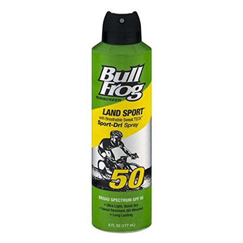 (BullFrog Marathon Mist Continuous Spray Sunblock SPF 50 - 6 oz, Pack of 3)