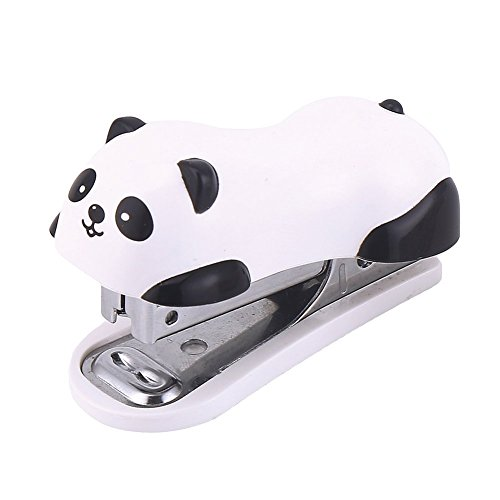 DECORA Cute Panda Mini Desktop Stapler Handy Stapler for Christmas Party Favors Home and Office Use with 1000 Pieces Staples