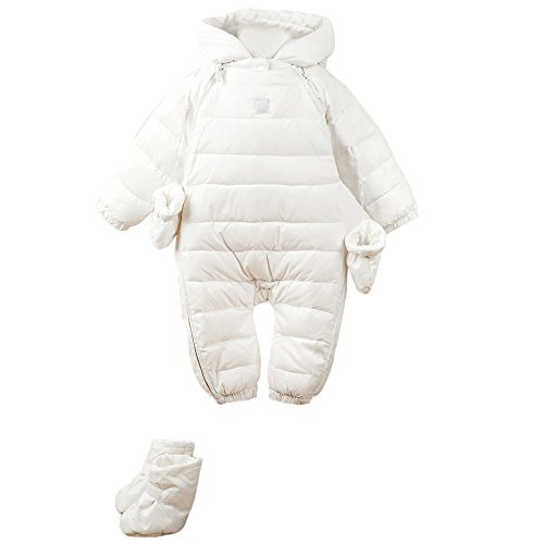 48b9c267f Bebone Newborn Baby Hooded Winter Puffer Snowsuit with Shoes and ...