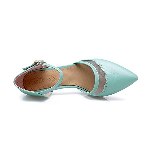 Femme Bleu Compensées Sandales SLC04069 AdeeSu twq7Ffnw