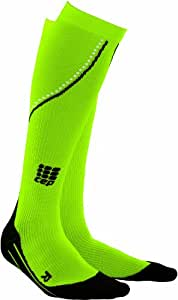 "CEP Night Neon Compression Running Socks, Neon II Women (Calf 9.5""-12"")"