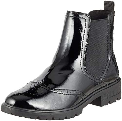 21 Tamaris Patent Chelsea 25491 Women's black Black Boots 18 vvwEZr