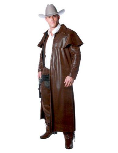 Underwraps Costumes Men's Cowboy Costume - Duster Coat, Brown, One (Cowboy Duster Coat Costumes)