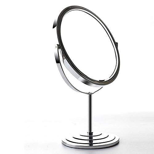 HUMAKEUP Double-Sided Stand-Alone Vanity Mirror 7-inch Dressing Table 3 Times Magnifying Glass -