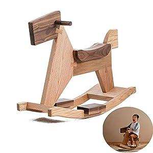 ZPFDM Wooden Rocking Horse
