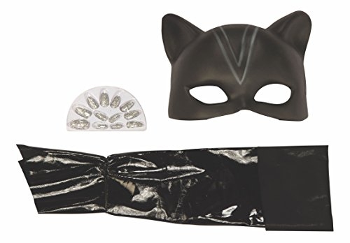 Rubie's 17122 Child Cat woman Blister Kit Costume, Standard, Black