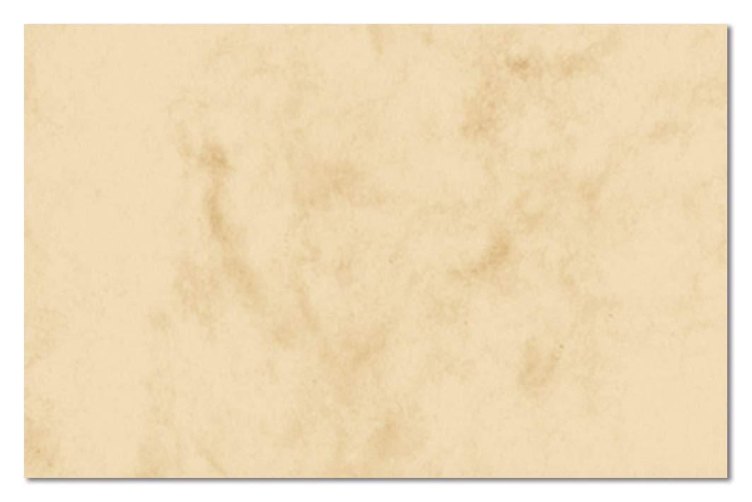 Sigel DP744 Biglietti da visita, 3C, con taglio netto tutt'intorno, marmorizzata beige, 85x55 mm (A4), 225 g, 100 pz.=10 fg.