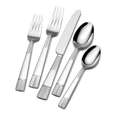 Pfaltzgraff 5130941 Seabury Frost 20-Piece Stainless Steel Flatware Set, Service for ()
