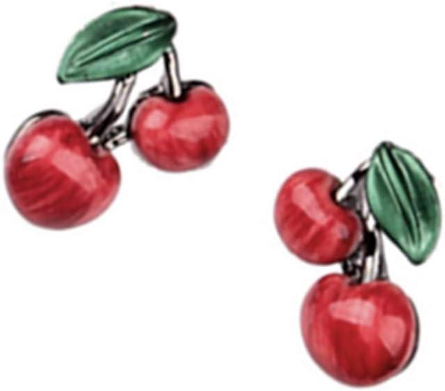 Simiday 2pcs Femmes Filles Collier Feuille r/étro rouge cerise Boucles doreilles Ensembles Clavicule bijoux de la cha/îne Set Accessoires de mari/ée