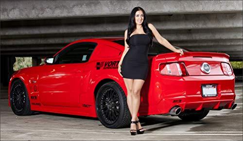 Ford Vortech Mustang GT Red Wall Art, Pop Art, Poster, Art Prints | Rare Posters - Mustang Gt Vortech