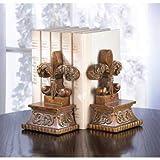 Read Books Bookends Decorative Fleur De Lis Modern Theme Home Office Alabaster Set Unique Antique Bookends