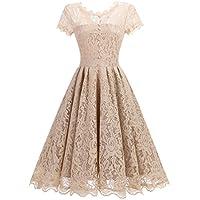 JH DRESS Women's Short Cap Sleeve Lace Prom Dresses Formal Retro Vintage Swing Party Cocktail Dresses S-XXL
