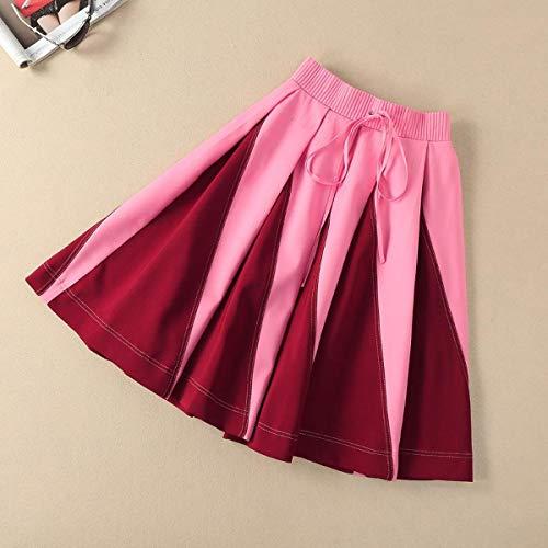 Donna Giaccone Lunghezza Frontale A Tuta Da Pink Aperto Con Xogiuefhrw Vintage Zip Pieghe Gonna BfdwP8Pxqt
