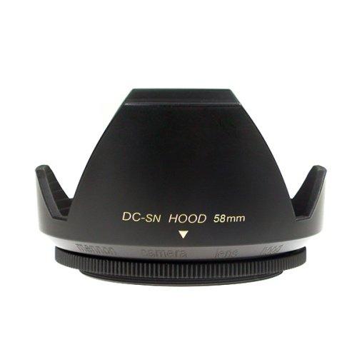 Mennon DC-sn 58 Improved Screw Mount 58mm Flower Lens Hood with Cap, Black