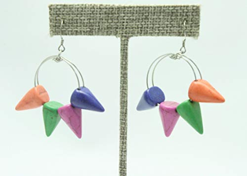 (Retro Spike Hoop Earrings )