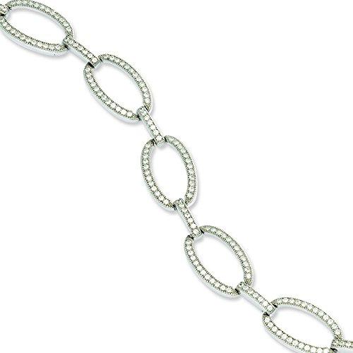 Argent Sterling CZ Bracelet poli-JewelryWeb - 18,4 cm