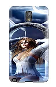 Case Cover Blue Fairy/ Fashionable Case For Galaxy Note 3