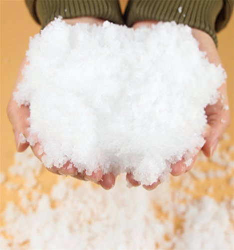 CoscosX 20 Pack SAP Magic Snow Instant Fake Fluffy Snow Powder Reusable DIY Artificial Slime Simulation Snow Super Absorbant Christmas Wedding Festival Market Fairy House Decor Children Toys by CoscosX (Image #7)