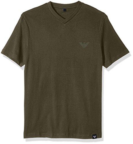 ARMANI JEANS Men's Side Logo Tshirt, Dark Green, X-Large