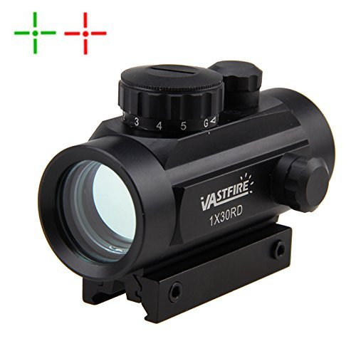 Tactical 1x30mm Reflex Red Green Dot Sight Riflescope with Free 20mm Mount...