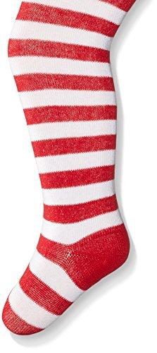 Jefferies Socks Big Girls' Red White Stripe Tight, Red/White, 10-14 ()
