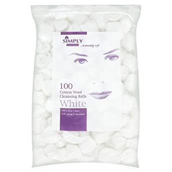 Simply Cotton Cotton Wool Cleansing Balls - 12 x 100s