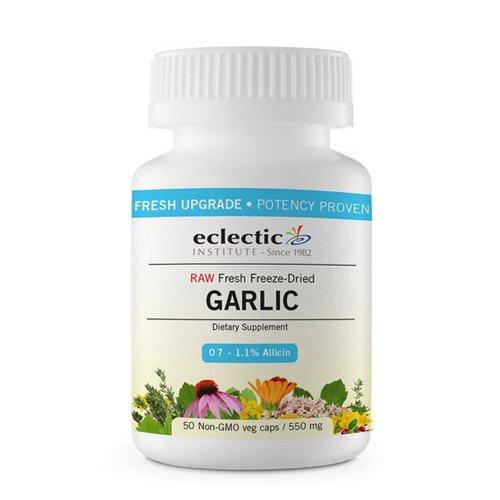 Freeze Dried Garlic - Eclectic Institute Garlic 550 Milligrams, 120 Veggie Capsules