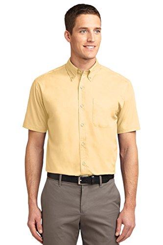 Port Authority Short Sleeve Easy Care Shirt, Yellow, X-Large
