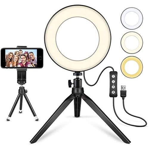 """LED Ring Light 6"""" with..."""