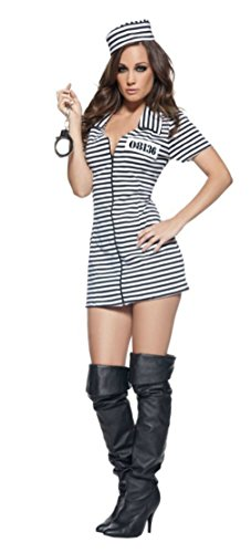 Underwraps Womens Prisoner Convict Sexy Miss Behaved Halloween Themed Costume, XL (16-18) (Convict Lady Plus Size Costume)