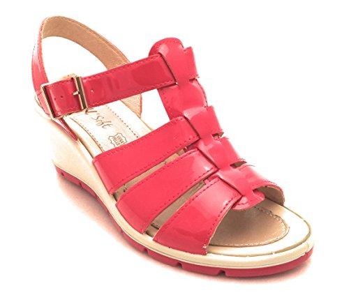 Cerise Femme Rouge soft Enval Pour Sandales Axwq1xYZS
