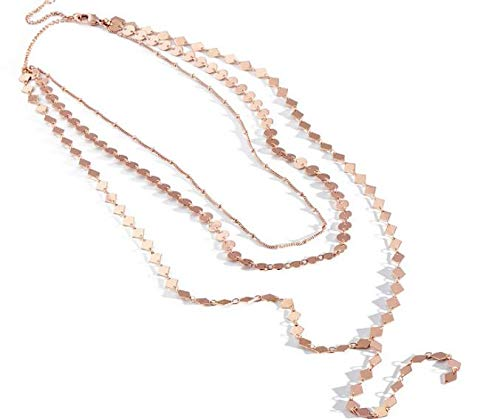 Glittering Sunrise Triple Strand Y-Necklace NEW IN BOX