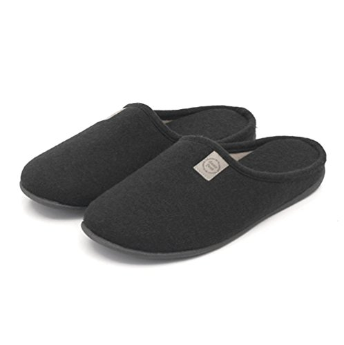 W&XY Slippers Winter Warm Cotton House Warm indoor High elasticity CozySolid color Men's Shoes 42