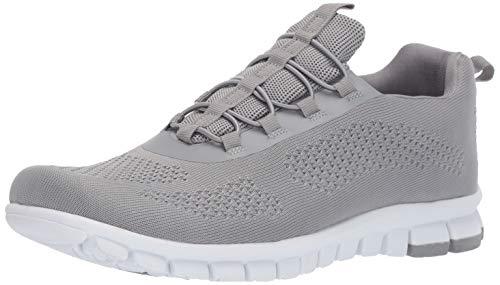 Bungee Oxford - NoSox Men's Rex Flexible Sole Bungee Lace Slip-On Oxford Hybrid Casual Sneaker, Grey 11.5 M US