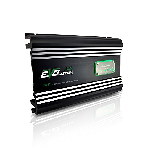 Lanzar 2 Channel Car Amplifier - 3,200 Watt, SMD Class A/B MOSFET, RCA Input,Amp Power Supply, Bass Boost, Mobile Audio, Amplifier for Car Speakers, Car Electronics, Crossover Network - EV294 (Wiring Crutchfield Amp)