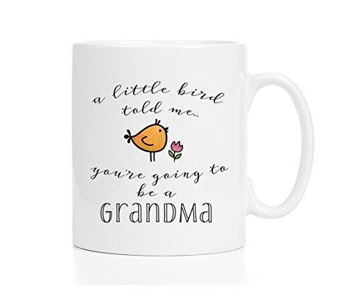 Pregnancy Reveal Mug / New Grandma Mug / Custom Pregnancy Reveal to Grandma / Pregnancy Announcement Grandparents / New Aunt (Lladro First Flowers)