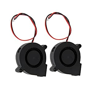 CCTREE 2PCS 12V 0.23A Blow Radial Fan Cooling Hot End Extruder for RepRap i3 3D Printer Creality CR-10 by CCTREE