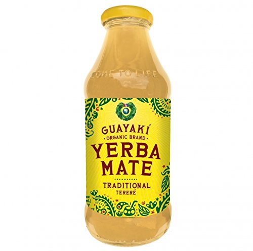 Guayaki Organic Yerba Mate, Traditional Mate, 16 Ounce (Pack of 12) by Guayaki