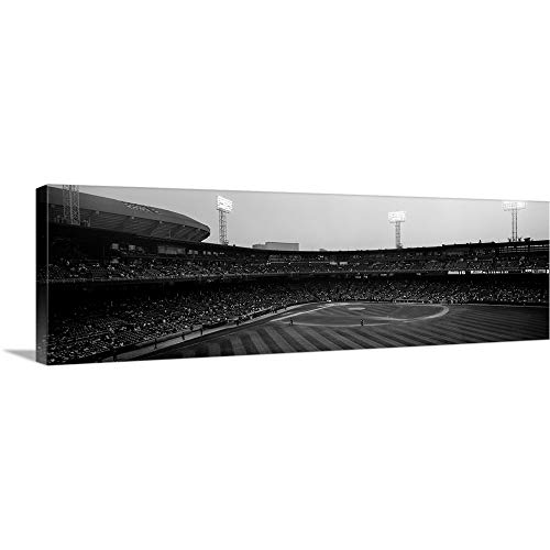 GREATBIGCANVAS Gallery-Wrapped Canvas Entitled Spectators in a Baseball Park U.S. Cellular Field Chicago Cook County Illinois by ()