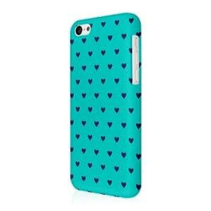 Empire Signature Series - Carcasa fina para iPhone 5C, diseño de corazones, color verde