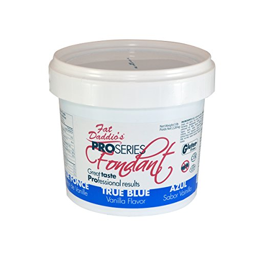 Fat Daddio's Fondant, True Blue, 8 oz, Vanilla Flavor