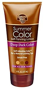 Banana Boat Self-Tanning Lotion, Deep Dark Summer Color for All Skin Tones - 6 Ounce (Pack of 3)